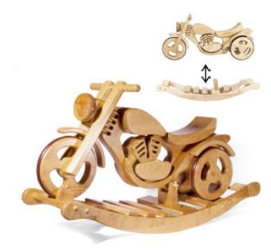 Schaukelmotorrad Laufrad